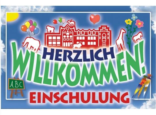 Ludwig-Heck-Grundschule Schulplakat Willkommen