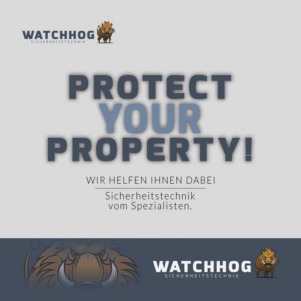 Watchhog Sicherheitstechnik Folderdeckblatt