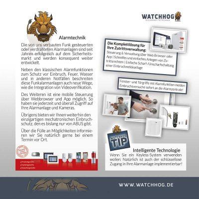 Watchhog Sicherheitstechnik Folder Innen