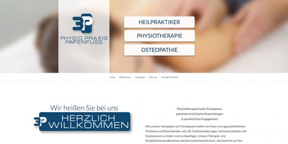 3P Physio Praxis Papenfuss Websitekopf