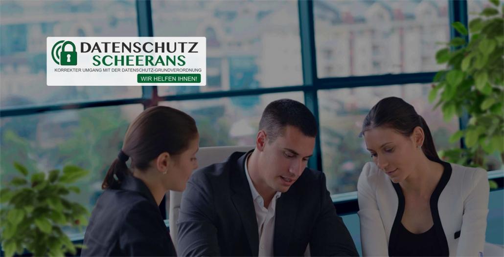 Datenschutz Scheerans Websitekopf