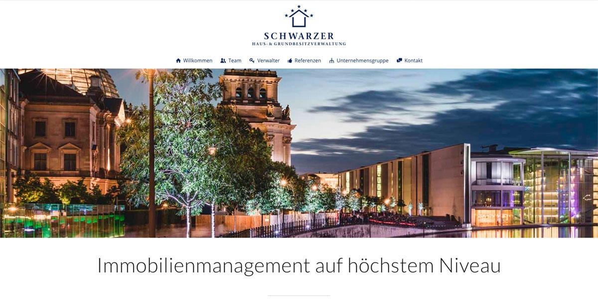 SCHWARZER Haus- und Grundbesitzverwaltung Websitekopf