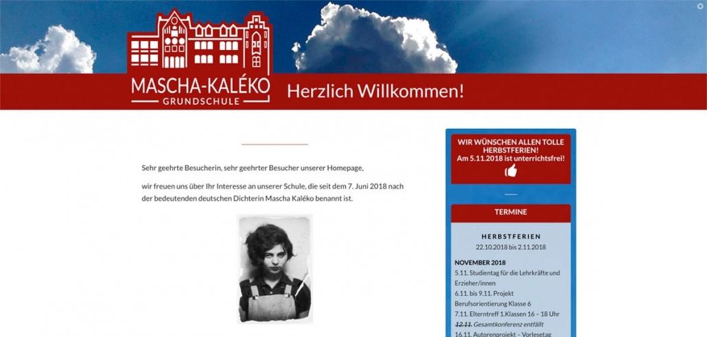 Mascha Kaléko Grundschule Websitekopf